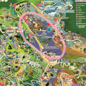 サンディエゴ動物園 マップ