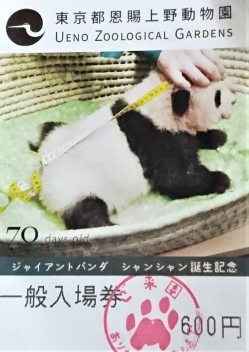 上野動物園 入場券