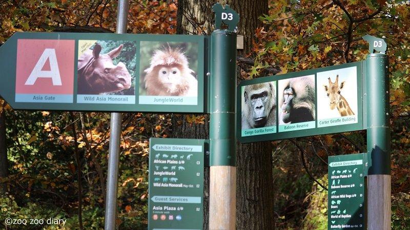 ブロンクス動物園 案内板