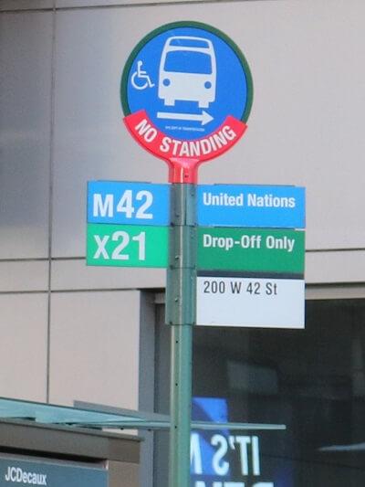 ニューヨーク バス停