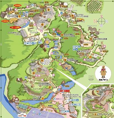 長崎バイオパーク 園内マップ